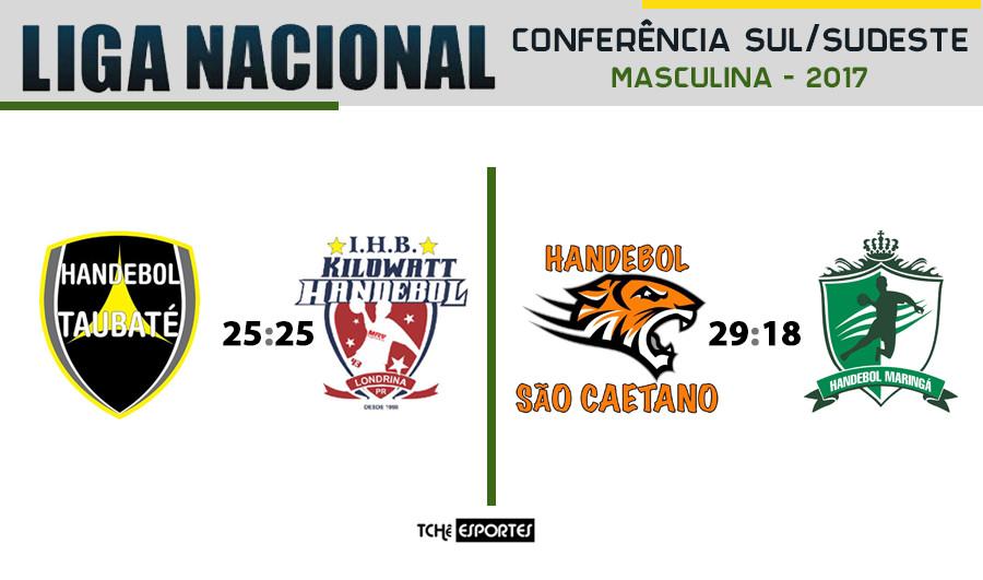 Taubaté(SP) vs Maringá(PR) | São caetano(SP) vs Londrina(PR) - Liga Nacional - Conferência Sul/Sudeste (arte Tchê Esportes)