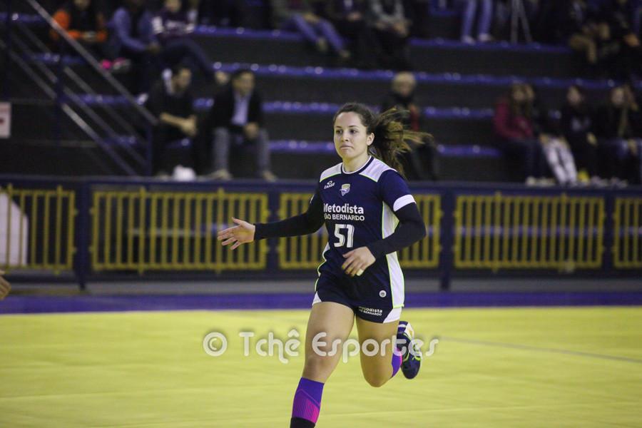 Bruna Rodrigues, Metodista, artilheira com 06 gols. (foto André Pereira / Tchê Esportes)