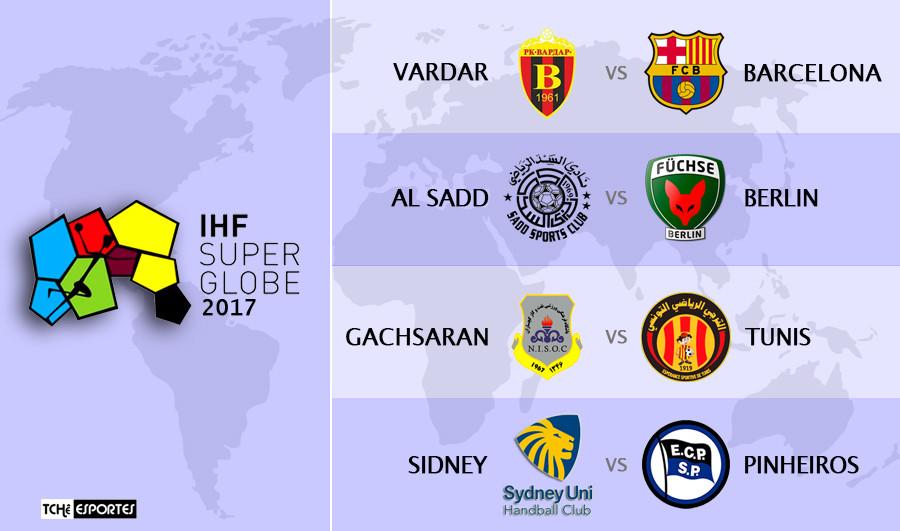 Super Globe 2017 - Pinheiros vs Berlin-  (reprodução IHF)