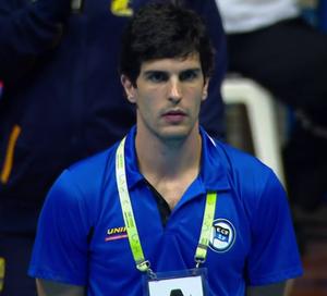 Alex Aprile, técnico do EC Pinheiros (reprodução SporTV)
