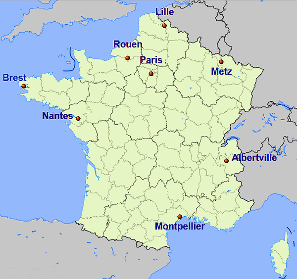 Sedes em Paris do Mundial de Handebol 2017