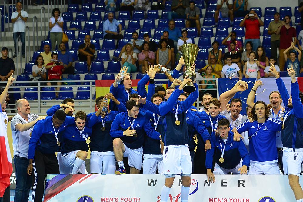 Final | Espanha vs França | Mundial Juvenil Masculino de Handebol Geórgia 2017. (foto divulgação IHF)