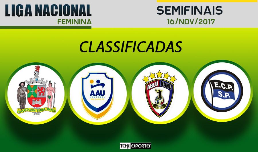 Liga Nacional Feminina de Handebol 2017. (arte Tchê Esportes)