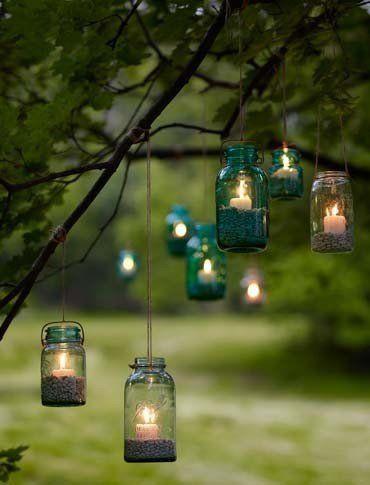 Colgantes de velas boho