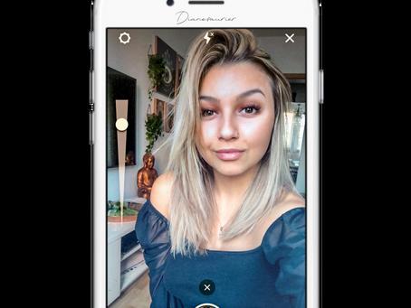 Intensität der AR Filter auf Instagram regeln