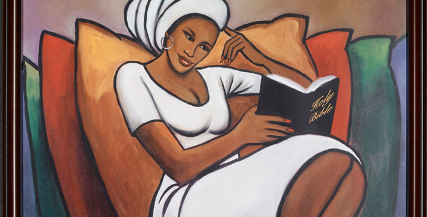 A LADY AND HER BIBLE