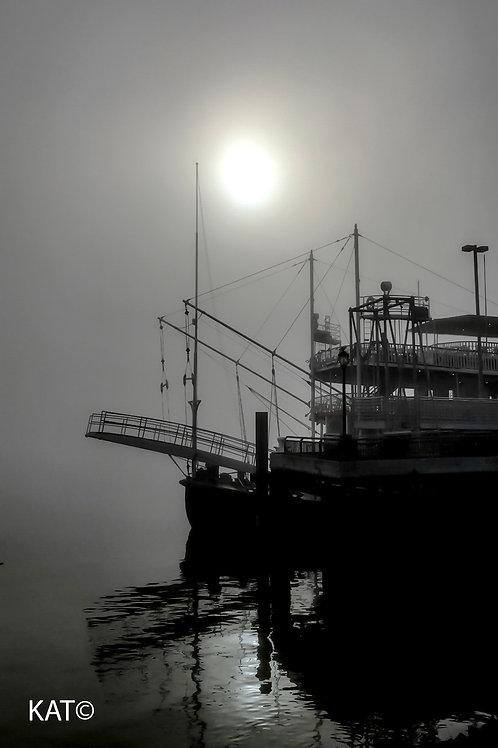 """foggy natchez kinda morning on the mississip_i (16"""" x 20"""" canvas)"""