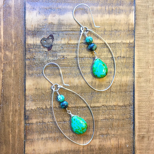 silver egg-drop island breeze earrings 2