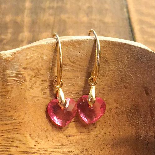 pretty in pink earrings (gold)