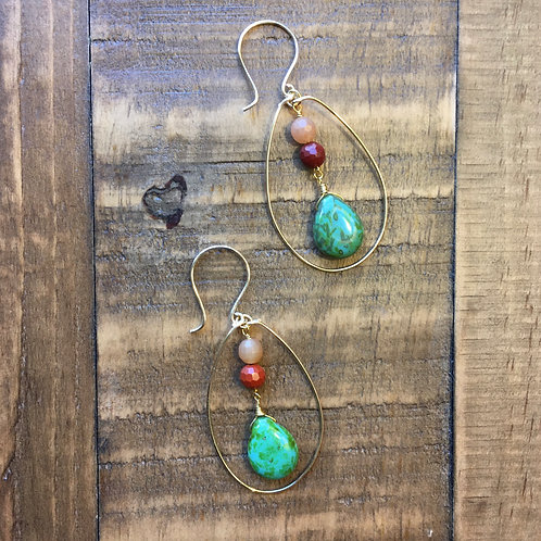 gold egg-drop island breeze earrings