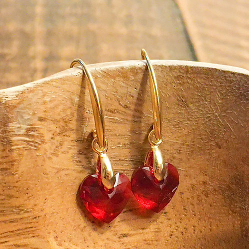 seeing red earrings (gold or silver)
