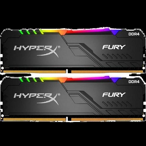 Kingston HyperX Fury Black 8GB DDR4 3200MHz  CL16 RGB