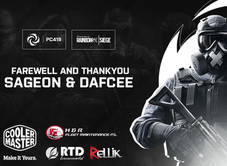 We Farewell our R6 Manager and R6 Player Sageon