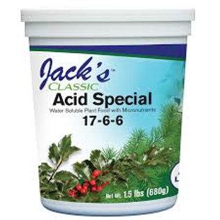 JACKS CLASSIC 17-6-6 1.5LB ACID fertilizer