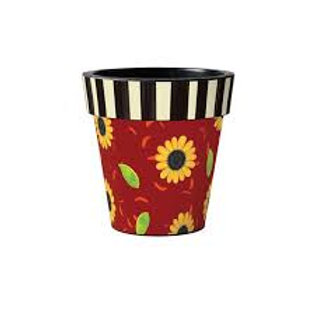 SUNFLOWER LEAVES ART POT 12 INCH