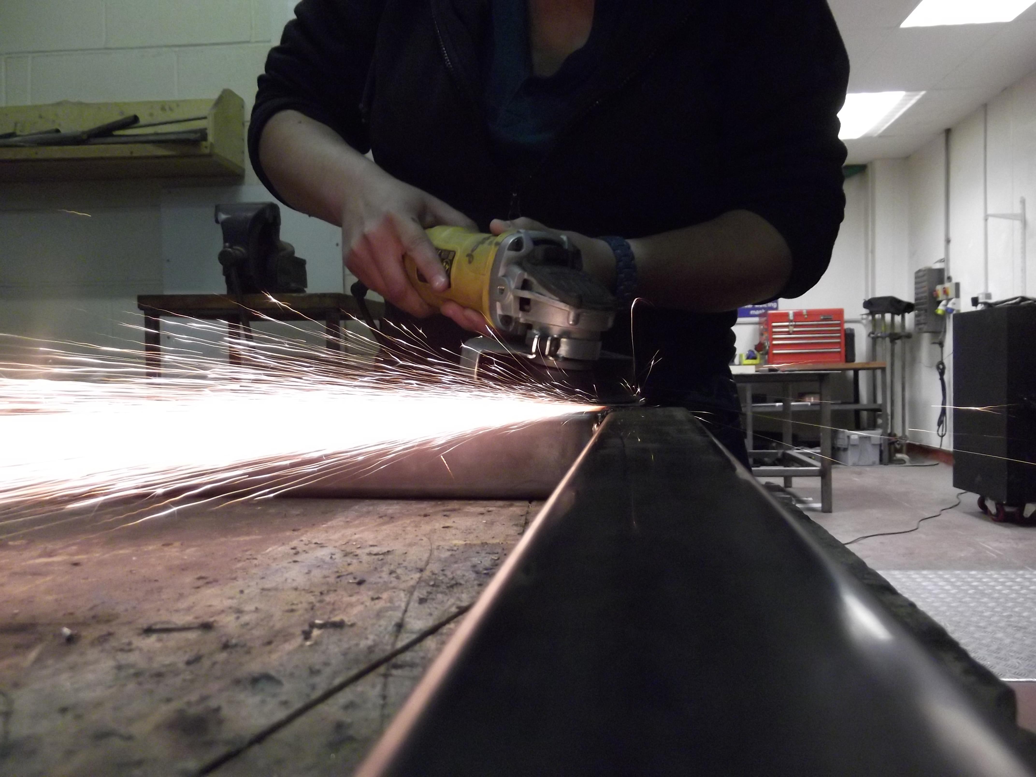 Angle grinding