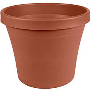 Fiskars Plastic Pot 14IN Terra Cotta