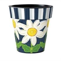 Daisy Blues Art Pot 12in