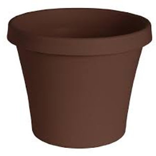 Fiskars Plastic Pot 6IN CHOC