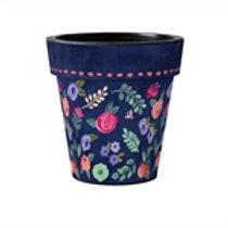 Boho Flower Art Pot 15in