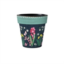 GERANIUM WELCOME ART POT 12 INCH