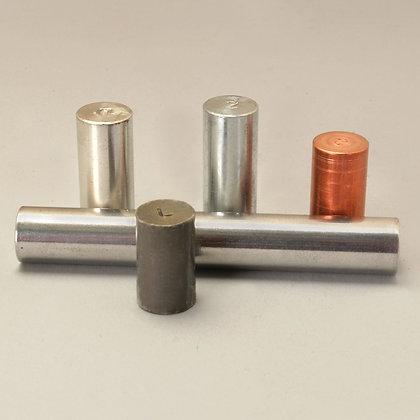Equal Mass Metal Cylinder Set