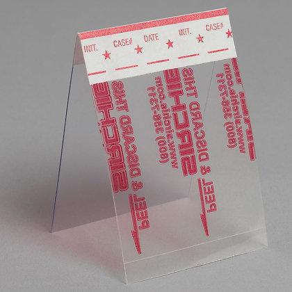 """Hinge Fingerprint Lifter, Transparent, 1-1/2 x 2"""", Pack of 24"""