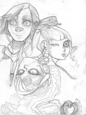 Graphite Pencil Plan for Inking