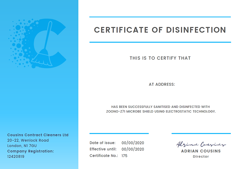 Certificate of Disinfection - Template.p