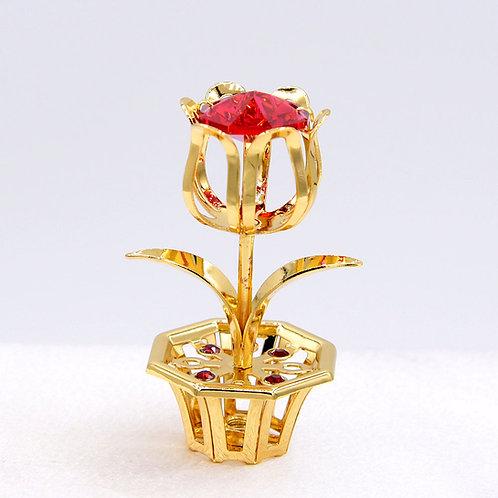 Mini Rose Flower in Pot