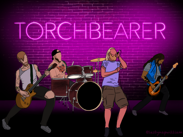 My friend's band 'Torchbearer'