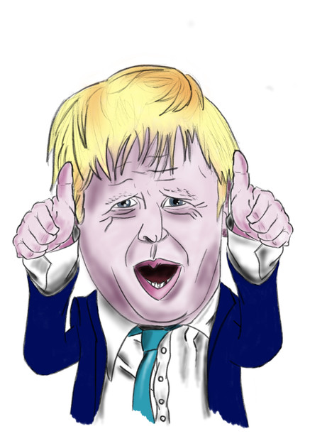Boris Johnson caricature
