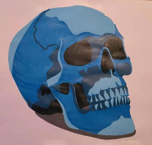 Monochromatic skull