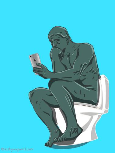 Auguste Rodin's The s̶h̶i̶t̶t̶e̶r̶