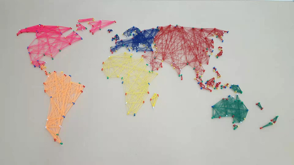 String Art - Map of the World