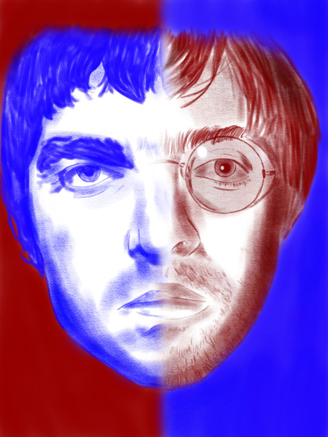 The Gallagher brothers (Oasis)