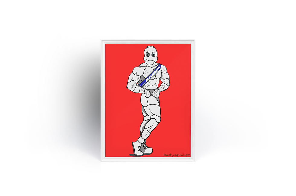 Masculine Michelin Man Poster print