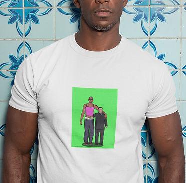 White Unisex Dennis Rodman & Kim Jong-un T-shirt