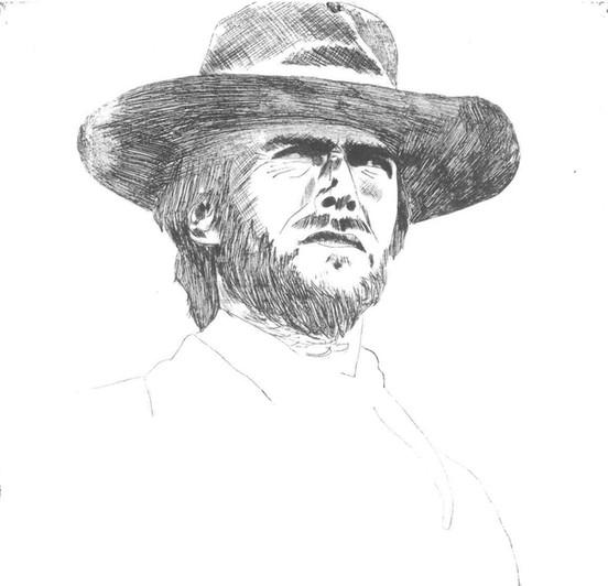 Clint Eastwood in 'High plains drifter'