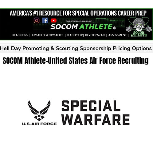 2 x USAF Special Warfare Recruiting Hell Day Sponsorship