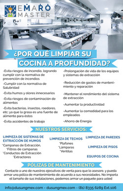 Limpieza Flyer Cocinas