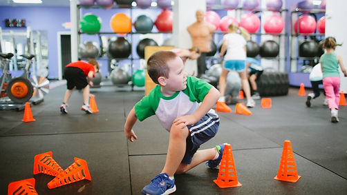 BuzzFit kids fitness classes for schools: circuits,skills, stretches, meditation, gameshes