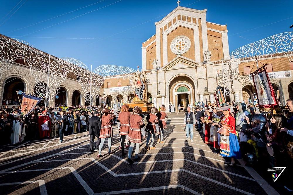 Il Santuario in occasione dei festeggiamenti della Santa Patrona di Nettuno
