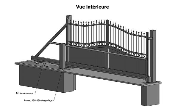 plans de portails et clôtures, plan portail, plan cloture, cerfa n°13703*02, comment poser mon portail, poser un portail