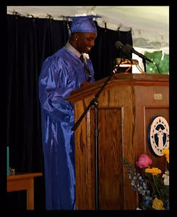 Antwon student body president at graduat