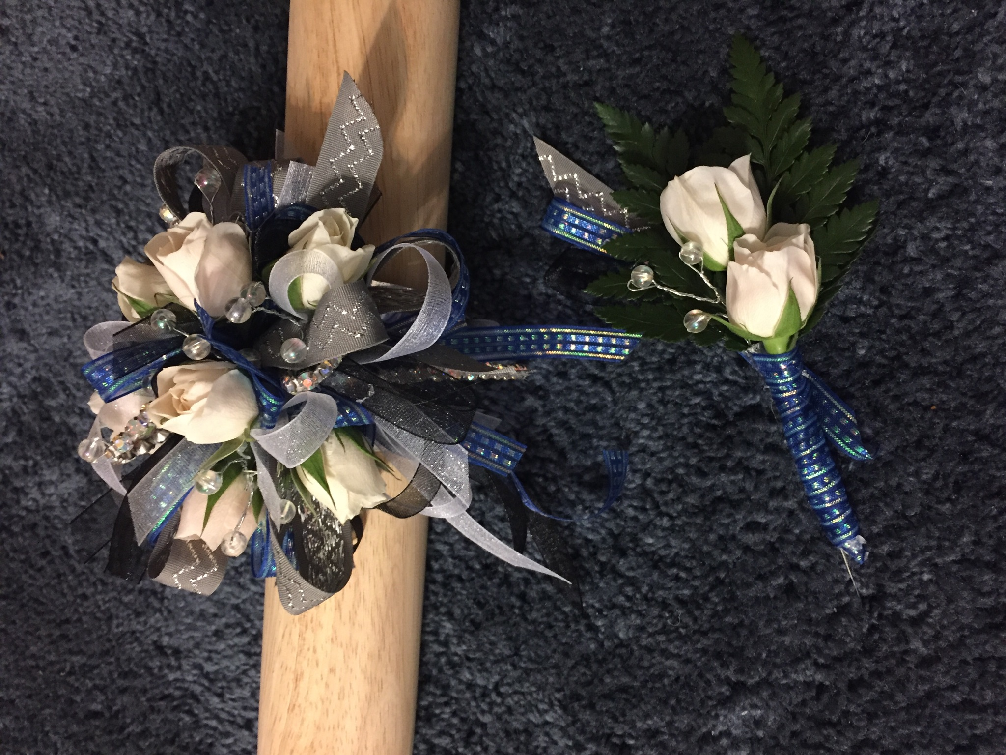 Prom corsage and boutonnière