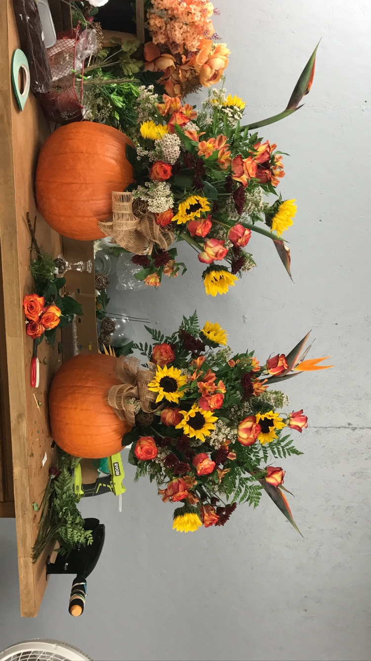 Alter arrangements in...PUMPKINS!