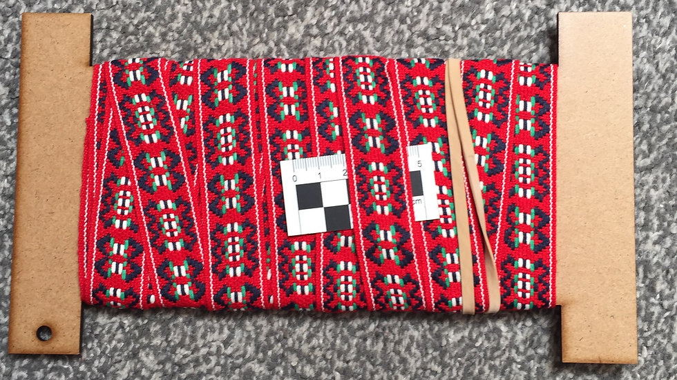 Double Sided Red, Navy Blue Trim