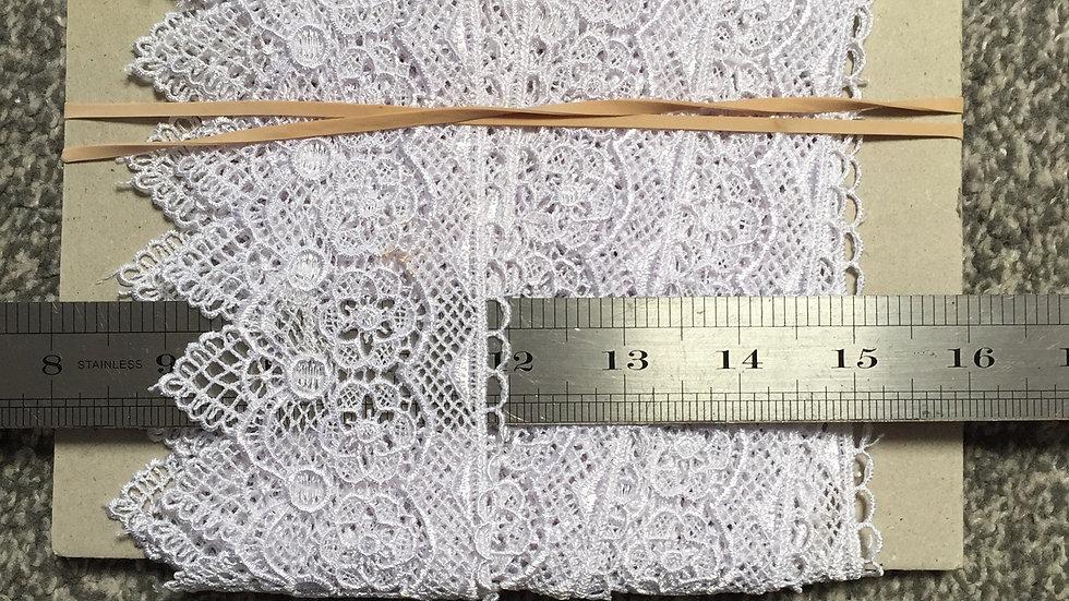White Floral Lace Trim