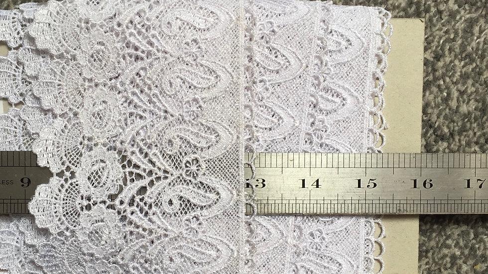 White Netting Lace Trim